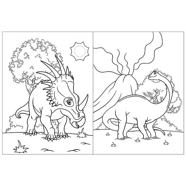 livro de colorir dinossauros blu editora